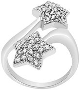 Bliss Cubic Zirconia & Sterling Silver Star Bypass Ring