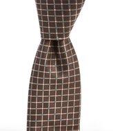 Roundtree & Yorke Diamond Grid Narrow Silk Tie
