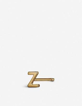 Otiumberg Z initial 9ct gold stud earring