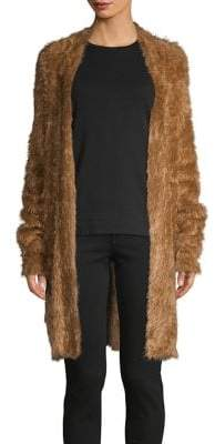 Lord & Taylor Fuzzy Open-Front Cardigan