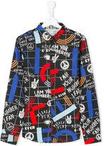Kenzo peace print shirt