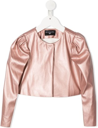 MonnaLisa Cropped Puff-Sleeved Jacket