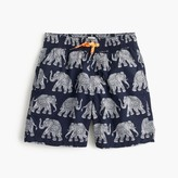 J.Crew Boys' swim trunk in elephant print