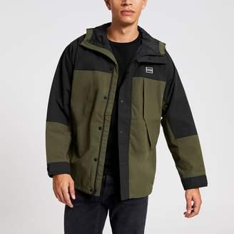 Levi's Mens River Island Khaki lightweight blocked parka jacket