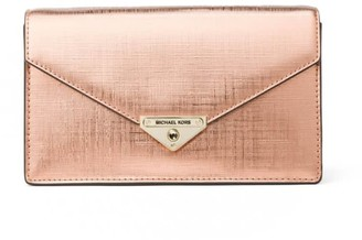 Michael Kors Metallic Pink Grace Crossbody Bag
