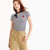 J.Crew Striped painter T-shirt with embellished patch