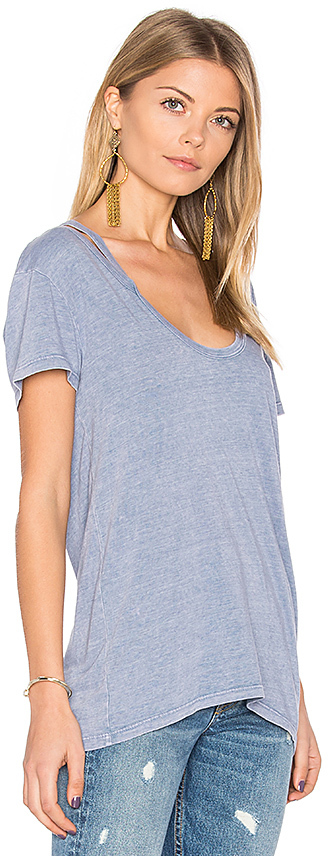 Pam & Gela Split V Neck Tee