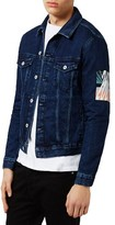 Topman Men's Patch Denim Jacket