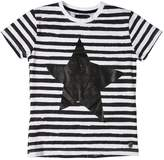 Fred Mello Star Print Striped Cotton Jersey T-Shirt