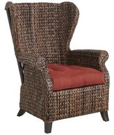 Pier 1 Imports Graciosa Mocha Brown Wicker Wing Chair