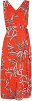 Warehouse Wrap Detail Bamboo Midi Dress