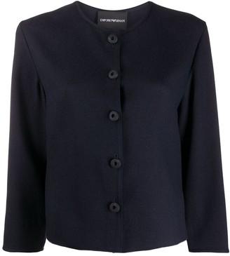 Emporio Armani Boxy Button-Front Blouse