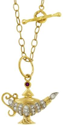 Cathy Waterman Aladdin's Ruby Lamp Charm