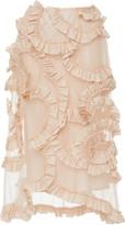 Simone Rocha Moncler Genius + Ruffled Cotton-Chiffon Midi Skirt