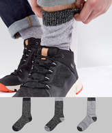 Asos Boot Socks With Contrast Heel And Toe 3 Pack