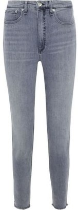 Rag & Bone Jane Frayed Faded High-rise Skinny Jeans
