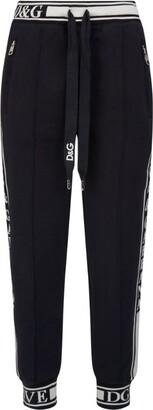 Dolce & Gabbana Logo Trim Sweatpants