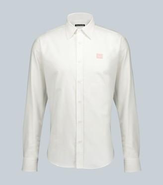 Acne Studios Seville face-patch slim-fit shirt