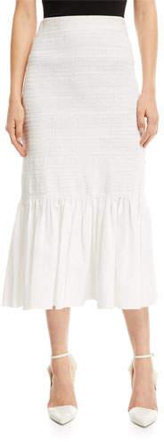 Calvin Klein Fitted Cotton Midi Skirt