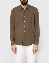 Our Legacy Classic Shirt Dark Olive Silk Noil