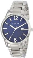 Cross Gotham Men's Quartz Watch with Blue Dial Analogue Display and Silver Stainless Steel Bracelet CR8002-33