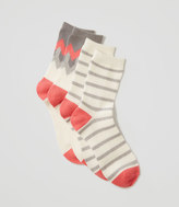 LOFT Cozy Striped Crew Sock Set