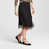 Who What Wear Women's Lace Slip Skirt