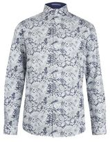 Burton Mens Spitalfields Co Navy Floral Shirt with Liberty Fabric*