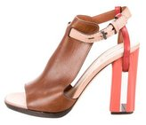 Reed Krakoff Leather Ankle Strap Sandals