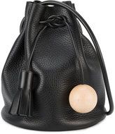 Building Block Mini Black Bucket shoulder bag - women - Wood/Leather - One Size