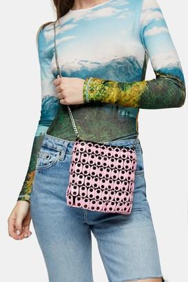 Topshop BABE Pale Pink Disk Shoulder Bag
