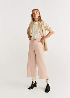 MANGO Belt culottes trousers