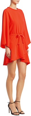 IRO Wrap Flounce Hem Mini Dress