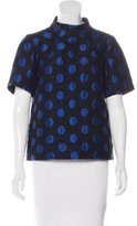 Suno Polka Dot Tweed Top