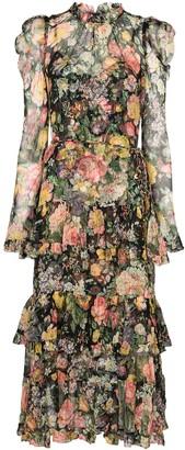 Zimmermann Ladybeetle floral-print puff-sleeve dress