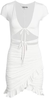 I.AM.GIA Greta Tie-Front Cutout Bodycon Dress