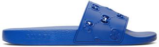 Gucci Blue GG Slides