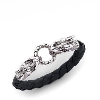 John Hardy Naga Sterling Silver & Leather Dragon Woven Bracelet