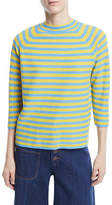 Marc Jacobs Mock-Neck Elbow-Sleeve Striped Sweater