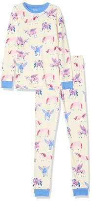 Hatley Girl's Organic Cotton Long Sleeve Printed Pyjama Sets