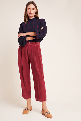 Velvet by Graham & Spencer Ophelia Wide-Leg Corduroy Pants By in Purple Size 8