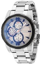 Police Men's Mechanical Watch with Grey Dial Analogue Display and Silver Stainless Steel Bracelet 14541JSTB/13M