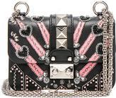 Valentino Embellished Mini Lock Shoulder Bag