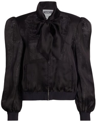 Moschino Bow Silk Jacket