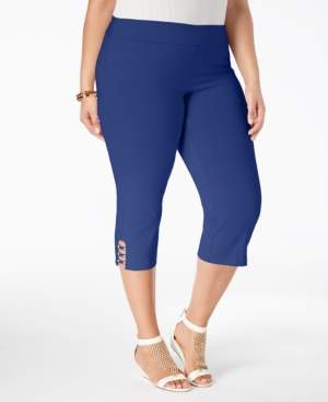 JM Collection Petite Plus Size Capri Pants, Created for Macy's
