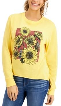 Self Esteem Juniors' Sunflower-Graphic T-Shirt