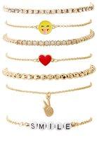 Charlotte Russe Embellished Layering Bracelets -7 Pack