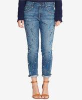 Lauren Ralph Lauren Paint-Splattered Boyfriend Jeans