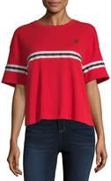 Uspa U.S. Polo Assn.-Juniors Womens Crew Neck Short Sleeve Blouse