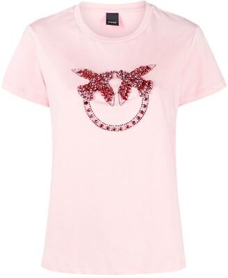 Pinko bird ring rhinestone T-shirt